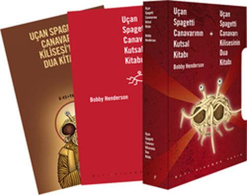 Uçan Spagetti Canavarının Kutsal Kitabı ve Kilisesi Dua Kitabı Kutulu Takım