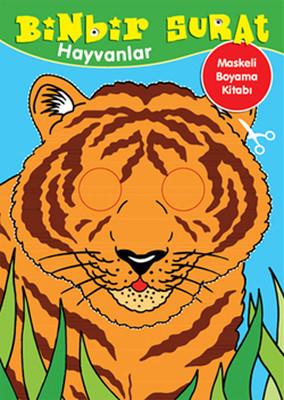 Binbir Surat Hayvanlar Maskeli Boyama Kitabı