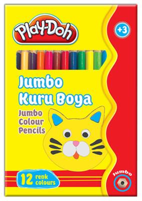 Play-Doh 12 Renk Jumbo Kuru Boya PLAY-KU004