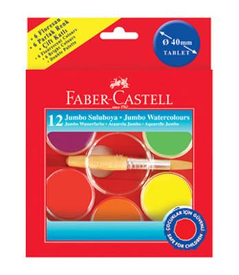 Faber-Castell 40Mm Jumbo Suluboya12 Renk   - 5292125015