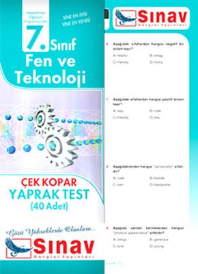 Sınav 7. Sınıf Fen ve Tekonoloji Çek Kopar Yaprak Test (40 Adet)