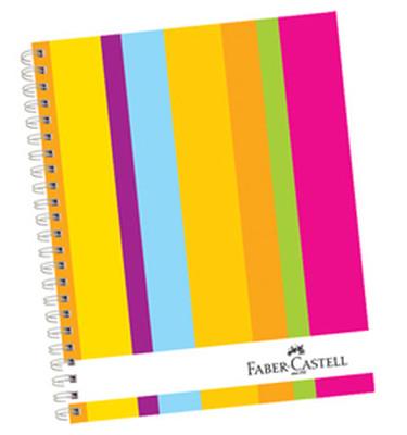 Faber-Castell Sert Kapak Sep.3+1 Renkli Çizgiler Defter, 160 Yaprak - 5075400403