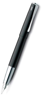 Lamy Cilali Mat Siyah Gövde ,Parlak Çelik Medium Uç Dolma Kalem Studio Dolma Kalem 67S-M