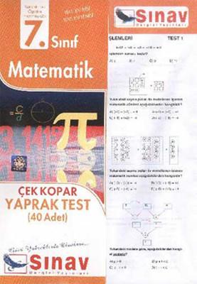 7. Sınıf Matematik Çek Kopar Yaprak Test