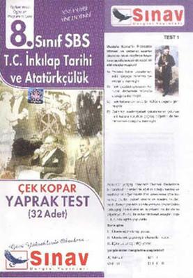 8. Sınıf Sbs T.c İnkilap Tarihi ve Atatürkçülük Çek Kopar Yaprak Test