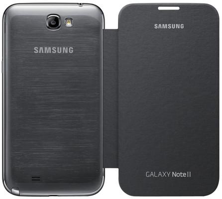 Samsung Note 2 Flip Cover Siyah