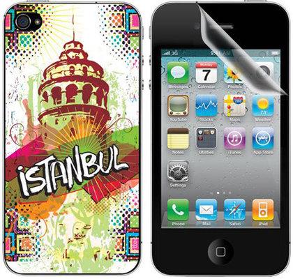 ttec Taks İstanbul 01 iPhone 4/4S Arka Yüzey ve Ekran Koruyucular 2EKR7560
