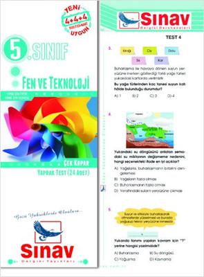 Sınav 5.Sınıf Fen ve Teknoloji Çek Kopar