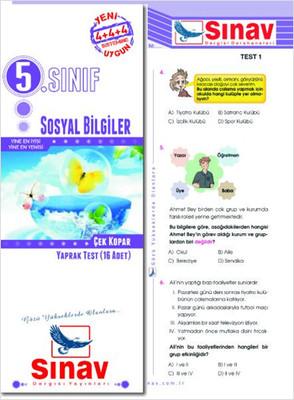 Sınav 5 Sınıf Sosyal Bilgiler Çek Kopar