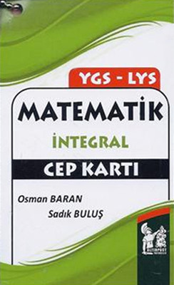 Altınpost YGS-LYS Matematik İntegral Cep Kartı