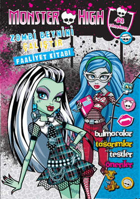 Monster High Zombi Beynini Çalıştır Faaliyet Kitabı
