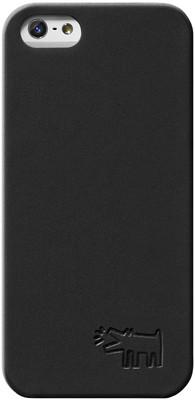 Case Scenerio Keith Haring iPhone 5 Embossed Kılıf Dog Black KH-IPH5-DBLK