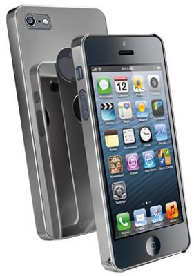 Cellular Line iPhone 5 Chrome Kapak Koyu Gri