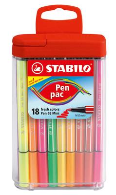 Stabilo Pen 68 Mini Pac Askili Kutu 668/18-031