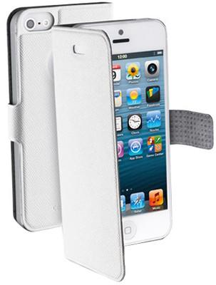 Cellular Line iPhone 5 Book İnce Kılıf Beyaz