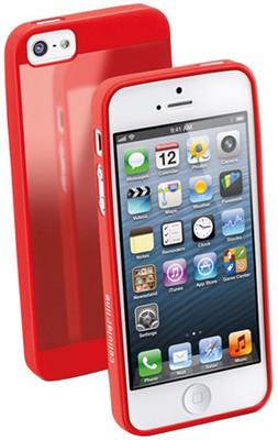Cellular Line iPhone 5 Gummy İnce Kılıf Kırmızı