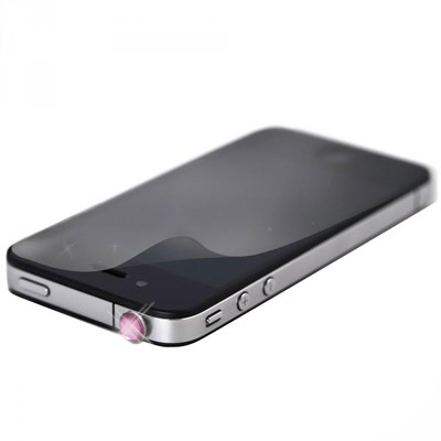 White Diamonds iPhone 4/4S Kristal Pin Pembe