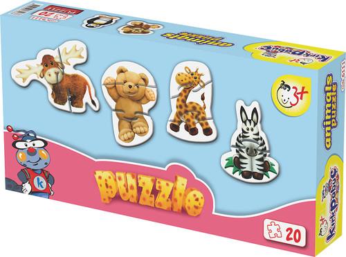 Kirkpabuç Hayvanlar Puzzle 20 Parçalik (Karton) 6111
