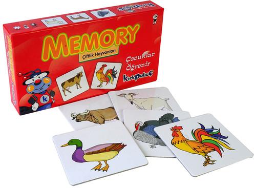 Kirkpabuç Çiftlik Hayvanlari - Memory Hafiza Oyunu (Karton) 7208