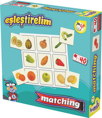 Kirkpabuç Meyveler Ve Sebzeler - Eslestirelim Kutu Oyunu (Karton) 7309