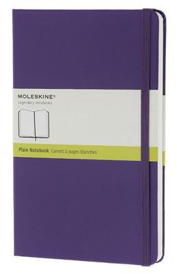 Moleskine Large Plain Hard Cover Notebook - Düz Mor Defter
