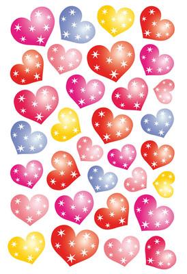 Herma Çocuk Etiketleri Noktali Kalp 3256