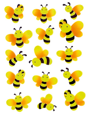 Herma Çocuk Etiketleri Fosforlu Arilar 6038