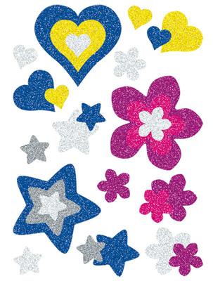 Herma Çocuk Etiketleri Parildayan Kalpler ve Çiçekler 3272