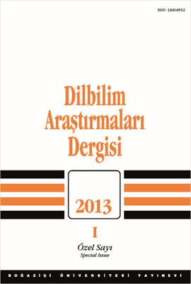 Dilbilim Araştırmaları Dergisi 2013 - 1
