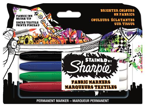 Sharpie Stained Tekstil Markör  4'lü Blister - S0962141