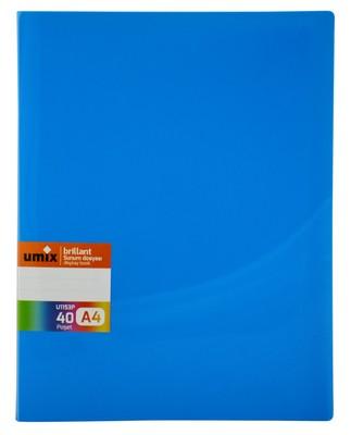 Umix Brillant Renkli Sunum Dosyasi 40Li Mavi - U1153P-Ma