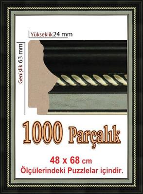 Polistiren Çerçeve 1000 Parça Puzzle Çerçevesi 106352