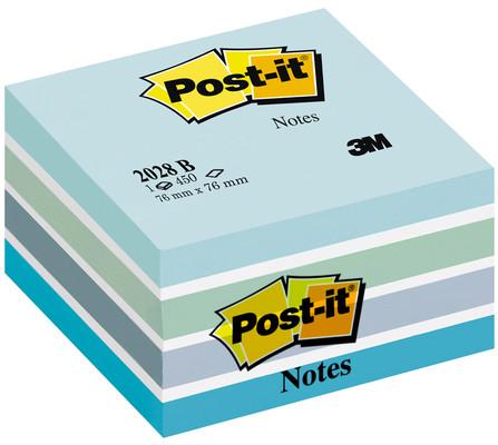 Post-it  Küp Mavi Tonları 450 Yp 76x76 2028-B