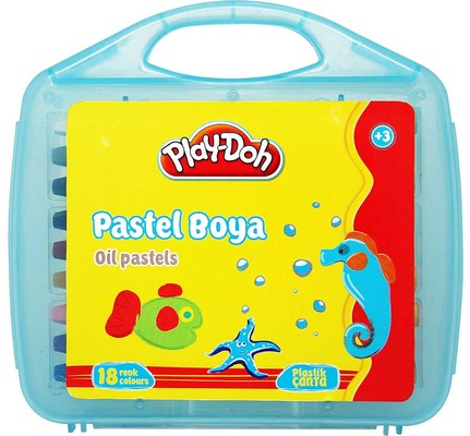 Play-Doh 18 Renk Pastel Boya Plastik Çantali PLAY-PA010