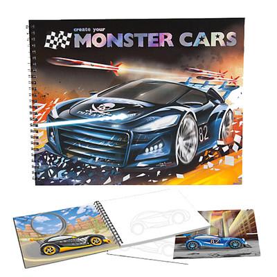 Monster Cars Boyama Kitabı - Dk06025