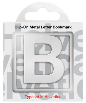 IF 92902 Helvetica Clip-On Bookmarks - Letter B/Kitap Ayraci