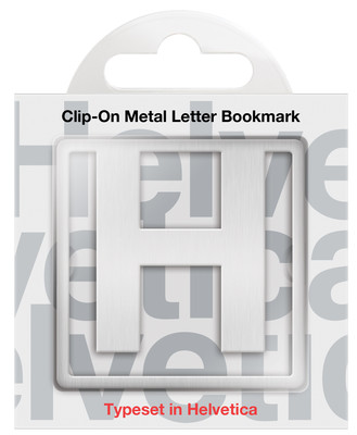 IF 92908 Helvetica Clip-On Bookmarks - Letter H/Kitap Ayraci