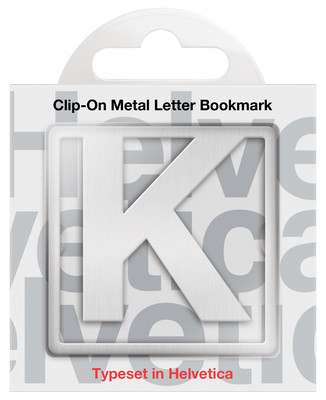 IF 92911 Helvetica Clip-On Bookmarks - Letter K/Kitap Ayraci