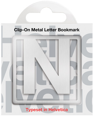IF 92914 Helvetica Clip-On Bookmarks - Letter N/Kitap Ayraci