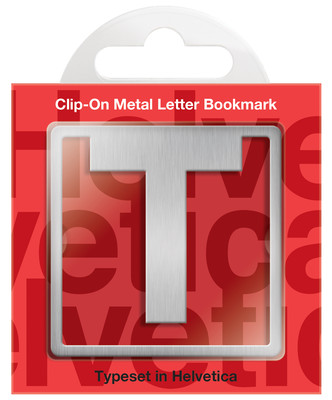 IF 92920 Helvetica Clip-On Bookmarks - Letter T/Kitap Ayraci