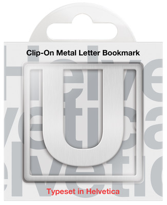 IF 92921 Helvetica Clip-On Bookmarks - Letter U/Kitap Ayraci