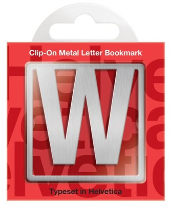 IF 92923 Helvetica Clip-On Bookmarks - Letter W/Kitap Ayraci