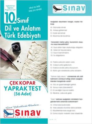 10.Sınıf Dil Ve Anlatım-Türk Edebiyatı Yaprak Test (56 Test)