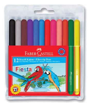 Faber-Castell Fiesta Keçeli Kalem, 12 Li Poset - 5068312450