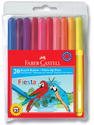 Faber-Castell Fiesta Keçeli Kalem 20 Li Poset - 5068330450