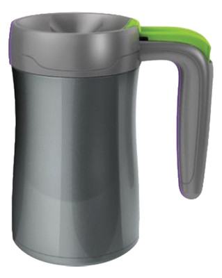 Contigo Autoseal Handled Desk Mug Stainless Steel Vacuum Insulated Mugs Fulton Bakir/Gri/Limon Yesil