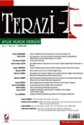 Terazi Aylık Hukuk Dergisi Sayı: 11