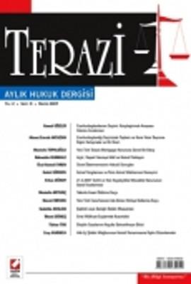 Terazi Aylık Hukuk Dergisi Sayı: 9