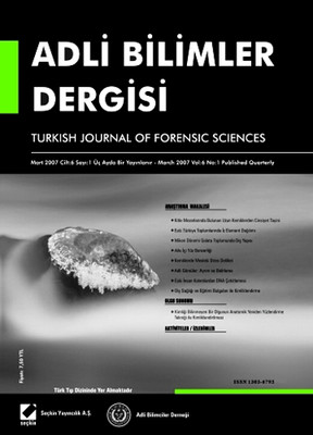 Adli Bilimler Dergisi - Cilt: 6 Sayı: 1