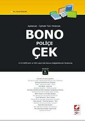 Bono - Poliçe - Çek